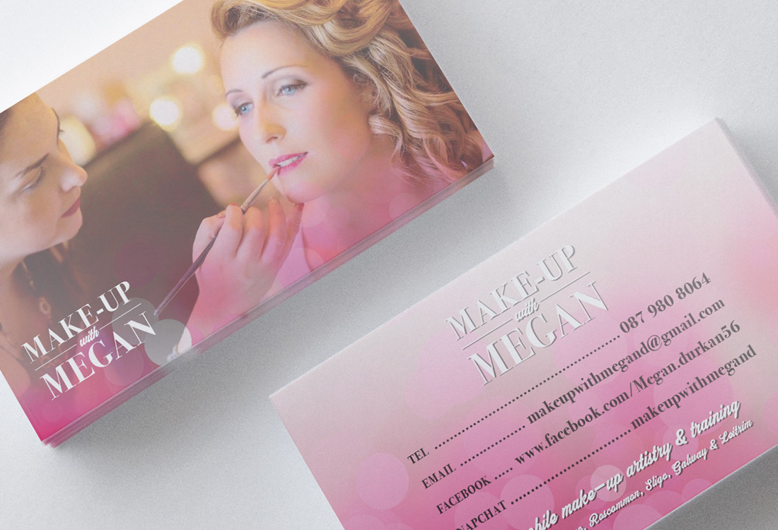 Make-up With Megan Business Cards
