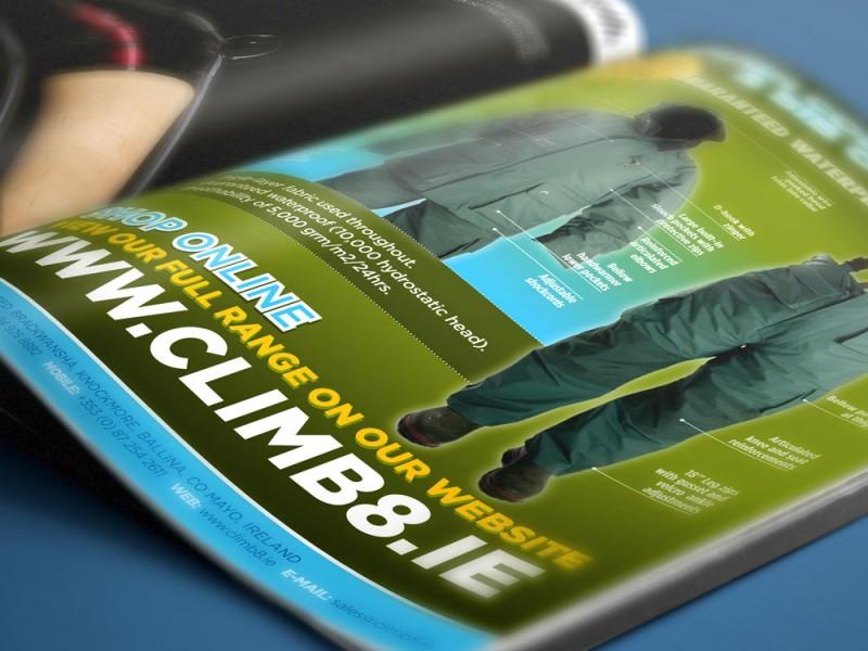 Climb 8 Magazine advertising