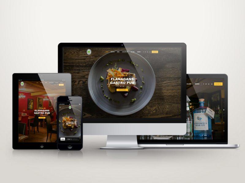 Web design Mayo Flanagans Gastro Pub