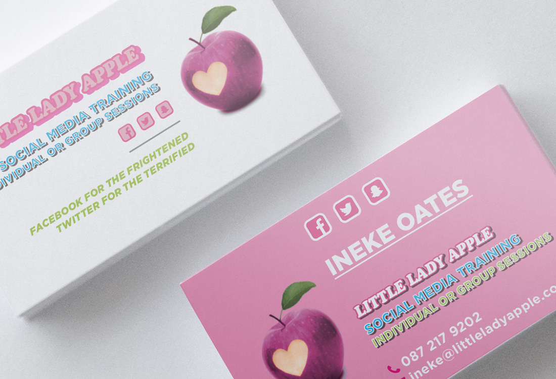 Little Lady Apple Business Cards