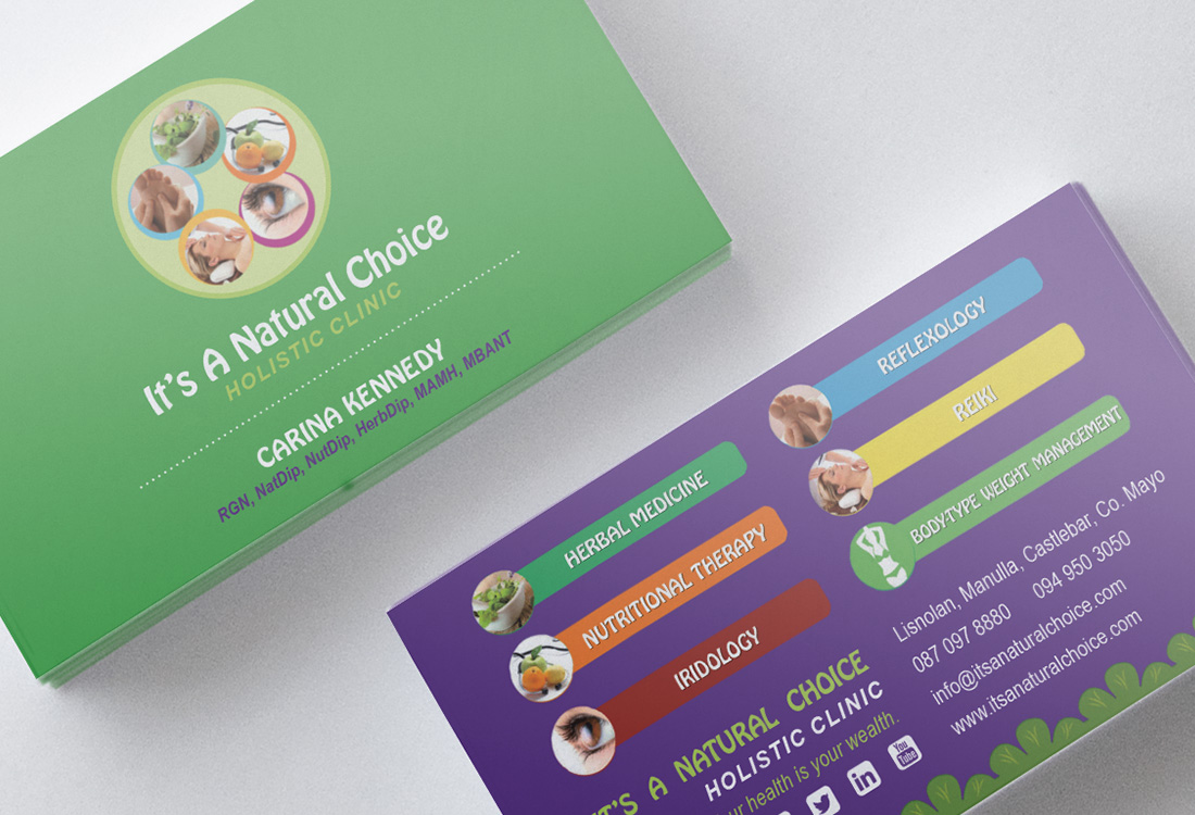 Make up with megan business card design its a natural choice business cards colourmoves